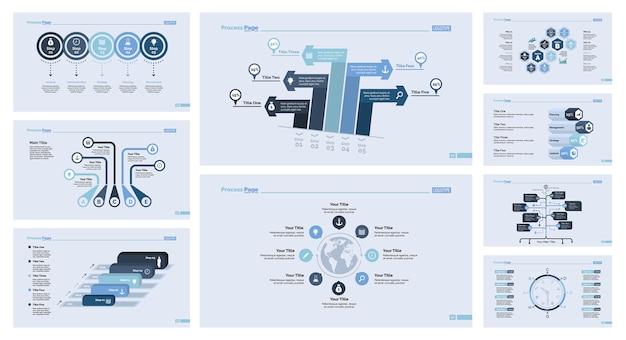 Neuf ensemble de modèles de diapositives logistique