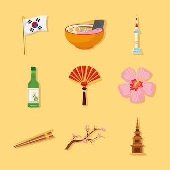 Neuf icônes de la culture coréenne