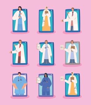 Neuf médecins virtuels