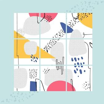 Neuf modèles de flux de puzzle pour instagram