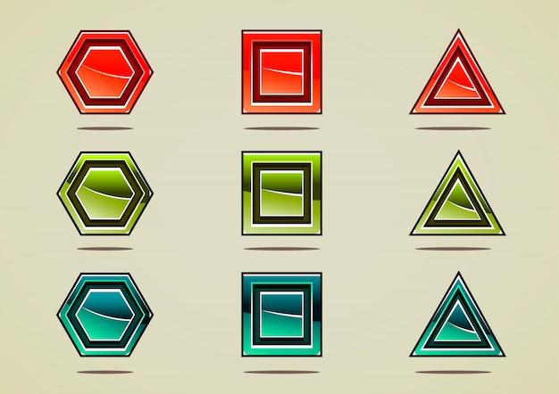 Neuf pierres colorées