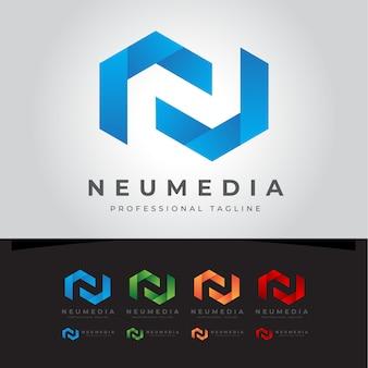 Neumedia n letter logo