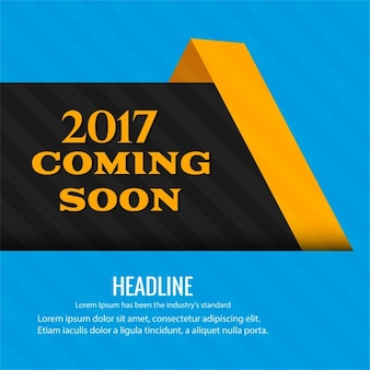 New 2017 coming soon fond