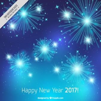 New yeark 2017 backgroound avec feux d'artifice