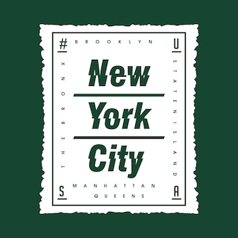 New york city boîte typographie abstraite t shirt design