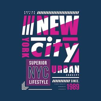 New york city cool graphique design coloré