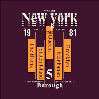 New york city lettrage cool bon pour illustration de typographie de conception de t-shirt