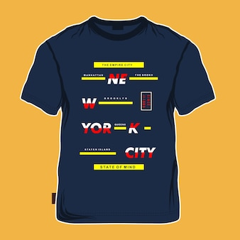 New york city maquette t shirt design graphique
