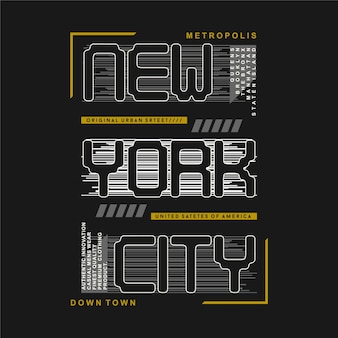 New york city rayé fond graphique design illustration typographie pour t-shirt