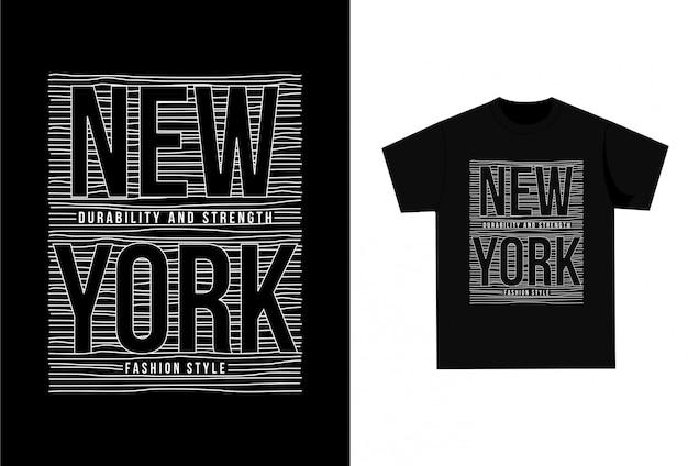 New york city - t-shirt graphique pour imprimer