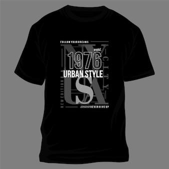 New york city usa t shirt graphique design typographie illustration vectorielle style décontracté