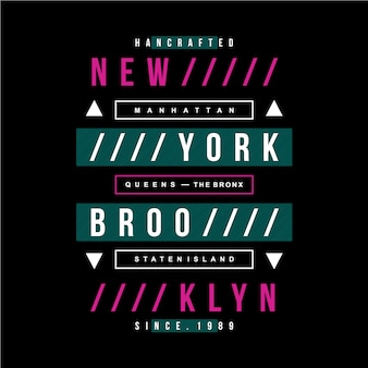 New york texte design vintage moderne
