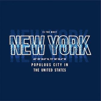 New york - typographie