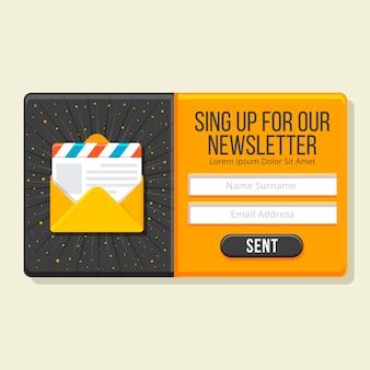 Newsletter design plat pop-up
