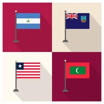 Nicaragua montserrat liberia et les maldives
