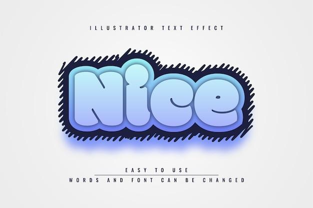 Nice - conception d'effet de texte 3d modifiable