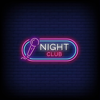 Night club logo néon signes style texte
