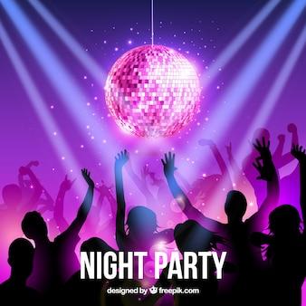 Night Party Vecteur gratuit