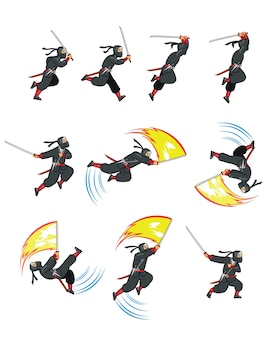 Ninja assassin game animation sprite