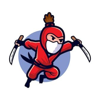 Ninja d'attaque furtive de dessin animé