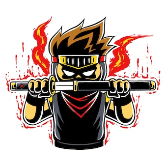 Ninja boy raging mode.