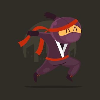 Ninja de dessin animé