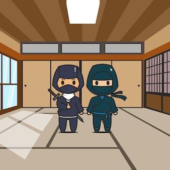 Ninja de personnage mignon