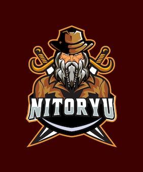 Nitoryu man e sports logo