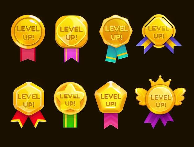 Niveler les icônes de jeu de l'interface utilisateur, les étoiles de bonus de casino