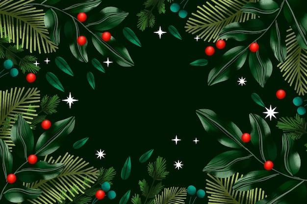 Noël, arbre, branches, aquarelle, fond