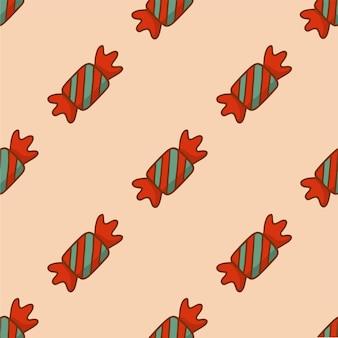 Noël bonbons motif fond médias sociaux post décoration noël illustration vectorielle