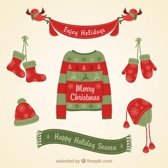 Noël carte de vêtements