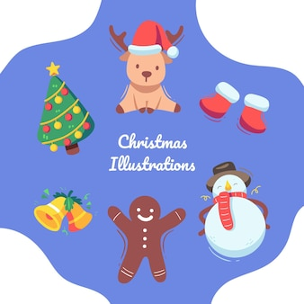 Noël coloré mignon en hiver