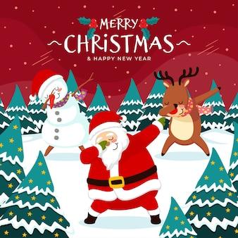Noël dab dance santa avec des amis