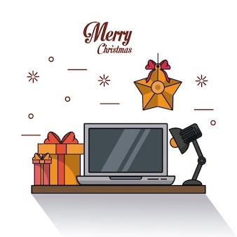Noël dans l'illustration de bureau