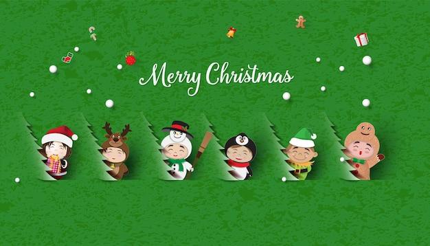 Noël enfants mignons joyeux noël