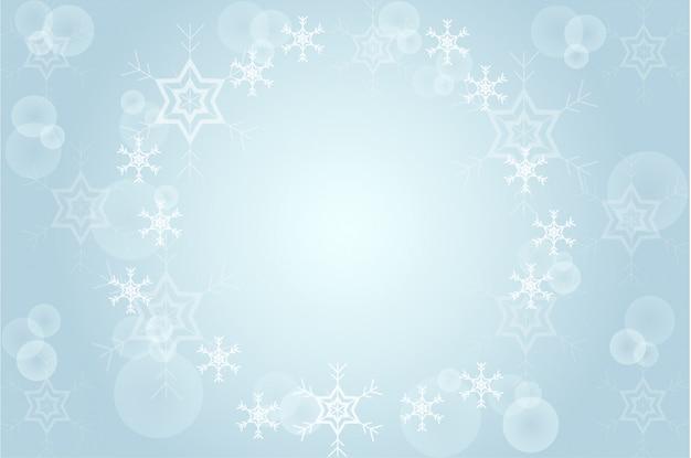 Noël floue neige sur bleu