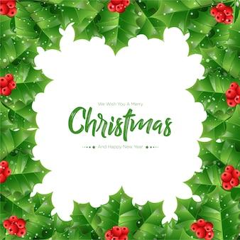 Noël de fond de branches de sapin