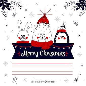 Noël fond dessiné à la main