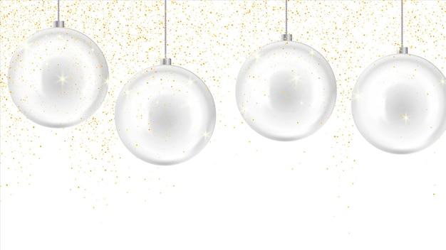 Noël, fond de nouvel an avec des boules de verre. décoration de nouvel an
