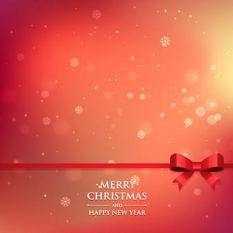 Noël fond rouge dans le style de bokeh