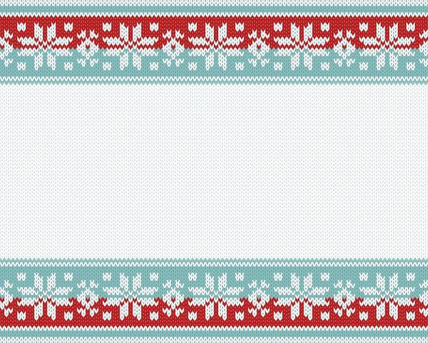 Noël et hiver fond tricoté avec espace de copie. modèle sans couture.