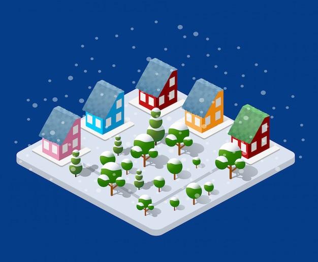 Noël d'hiver urbain