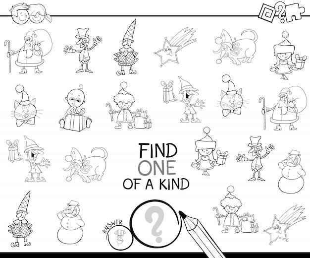Noël un livre de coloriage de jeu aimable