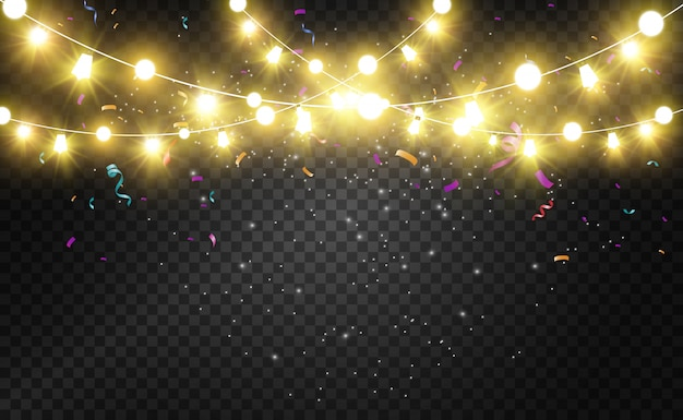 Noël lumineux, belles lumières, art. lumières incandescentes pour la conception de cartes de voeux de noël. guirlandes, décorations de noël légères.