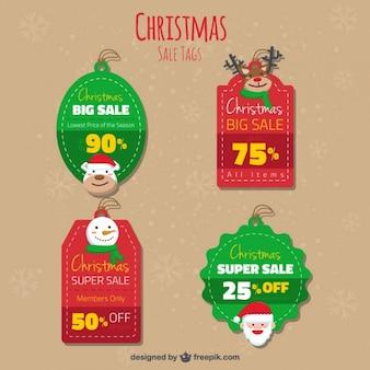 Noël mignon pack étiquettes de vente