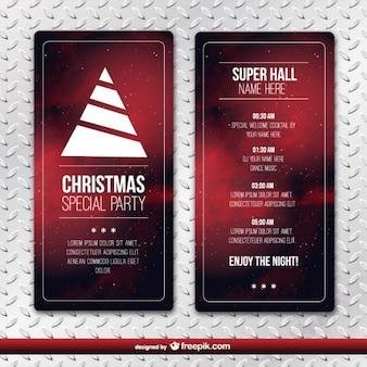 Noël modèle de party flyer