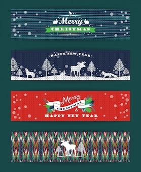 Noël et nouvel an. arrière-plans tricotés.