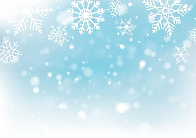 Noël et nouvel an flou bokeh de lumière
