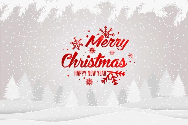 Noël et nouvel an fond typographique de noël
